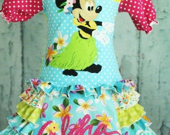 Disney Aloha Minnie two piece skirt set