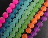 Glass Bead 75 Round 10mm CHOICE Frosted Transparent (1030gla10m1)