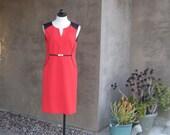 AGENT 99 Vintage Jones New York Red Dress