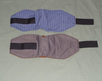 """2 Stripe Male Dog Diapers, 9"""" - 12"""", Belly Band Wrap, Custom Made Doggy Bellywrap, 2 Pack Doggie Band Diaper"""