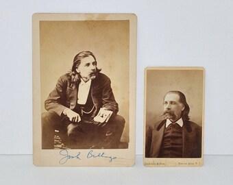 Antique Albumen Prints of Josh Billings (Henry Wheeler Shaw), Pair