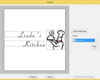 customized PES embroidery file for Apron includes 1 customized name