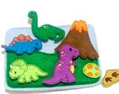 DInosaur activity Quiet book addon page play set educational game busy bags quiet book #QB41