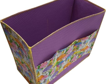 Large Organizer for Baby Nursery , Baby Shower Gift in Purple and People Prints