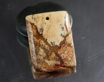 39mm Owyhee Jasper Pendant Bead