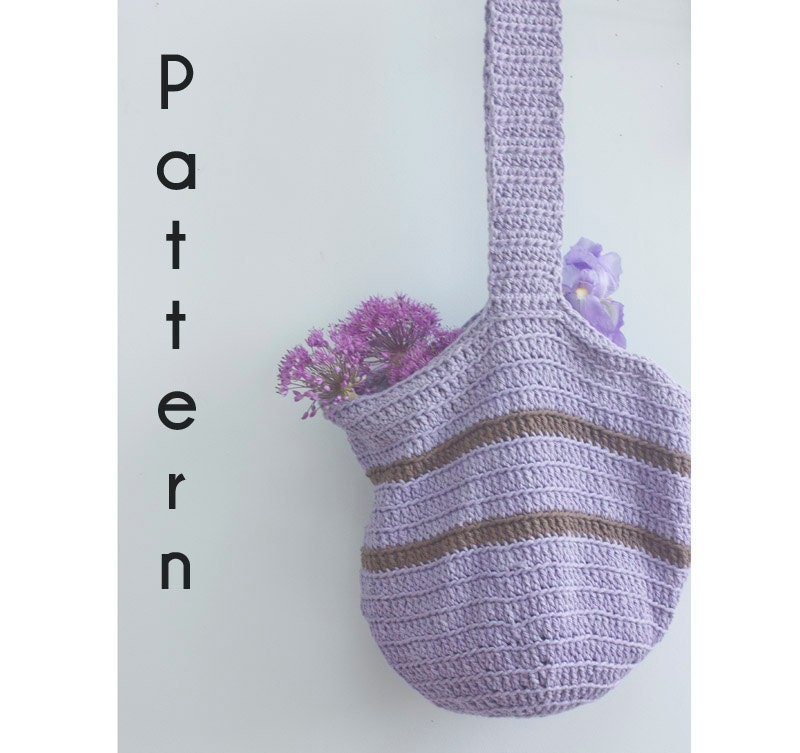 Easy Crochet Tote Bag Pattern : Easy Tote Bag Crochet Pattern PDF Digital Download by beadedwire