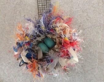 Bird nest crochetted fibers yarn