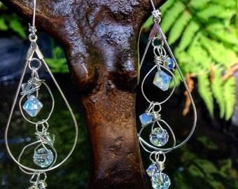 Crystal Orbit Earrings