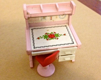 Vintage Takatoku Diecast Student Desk Toy Miniature 1:18 Scale