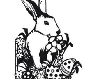 Darice A2 Embossing Folder Easter Bunny 1218-43