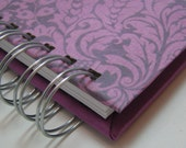 Quilt Journal Memory Book-with Lavendar Damask Cover