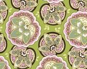 Sale/Destash Amy Butler Lotus Lime Star Paisley - prewashed- 1.5 yards