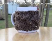 Cable knit mug cozy cup cozy in barley