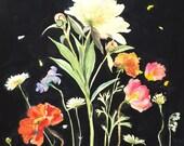 Botanical study No.2 original watercolor flower painting