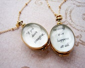 Personalized jewelry, graduation gift, Personalized gift, custom quote inspirational necklace, heirloom locket necklace