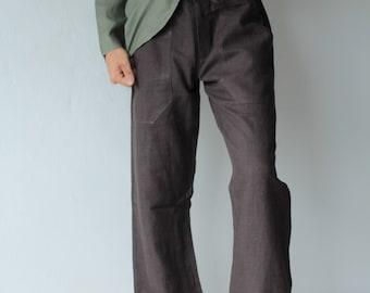 Men's 100 percent hemp pants..Natural colour Size S,M,L,XL  [P 1434]