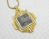 Vintage Razza Taurus Necklace Zodiac Jewelry N6095