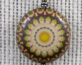 Sunflower Mandala Pendant