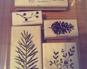 CHRISTMAS IN JULY * Stampin' Up Set of 5 'Peaceful Wishes'