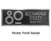 Stickley 2 Number Address Plaque Bungalow, Art and Craft Styles. Rennie Mackintosh Font is all the rage 16x7 inches