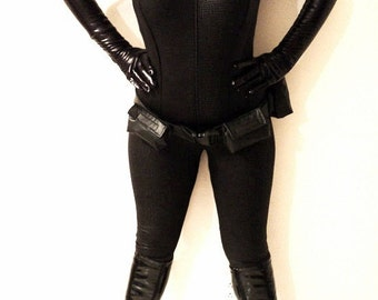 Catsuit costume catwoman inspiration croco hologram with belt and gloves  made only for you new fabric