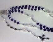 EXCLUSIVE LISTING for egoehl - Custom Swarovski Crystal Rosary - Catholic - Family Birthstone Rosary