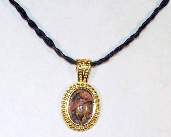 Safari Jasper Cabochon Necklace