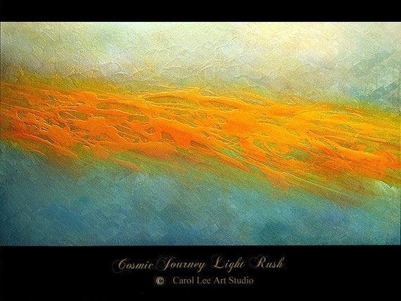 Large ABSTRACT PAINTING original Made To Order contemporary art modern art on canvas Cosmic Journey Light Rush - Carol Lee Art Studio