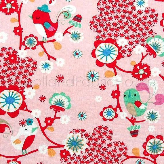 Cotton fabric retro fabric kids fabric floral fabric for Retro kids fabric