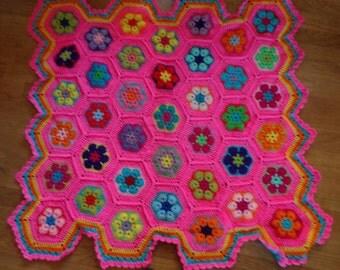 Hot pink blanket