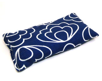 Organic Cotton Yoga pillow Eye Pillow - Blue - Yoga pillow - unscented or Lavender scented - blue