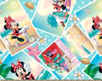Disney Minnie Summer Snapshots Cotton Woven by the yard