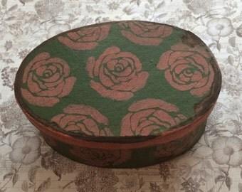 Paper Mache Vintage Rose Box