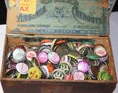 100 BOTTLECAPS-Best Price on Etsy- Vintage Bottle Caps Soda Caps Art Recyle Upcycle Folk Art Supply