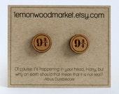 Harry Potter Platform 9 3/4 earrings - alder laser cut wood earrings
