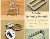 Purse hardware kit For the Cross Body Bag pattern – POTM  CF4