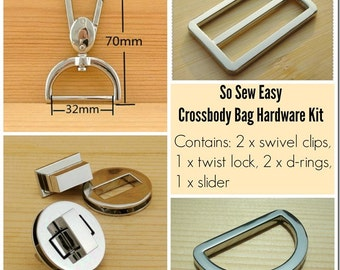 Purse hardware kit For the Cross Body Bag pattern – POTM  CF4