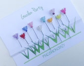 Garden Party - Sewing Pins - Flower Power - Decorative Sewing Pins - Gift for Quilter - Dress Up your Pincushion - Sewing Accessory - Flower