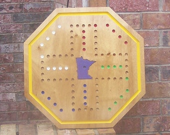 Aggravation game board with State