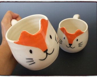 Super Cute Fox Mug by misunrie