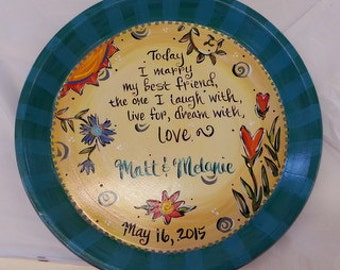 Wedding Plate Terracotta