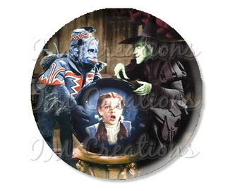 "Pocket Mirror, Magnet or Pinback Button - Wedding Favors, Party themes - 2.25""- Wizard of Oz Flying Monkey MR415"