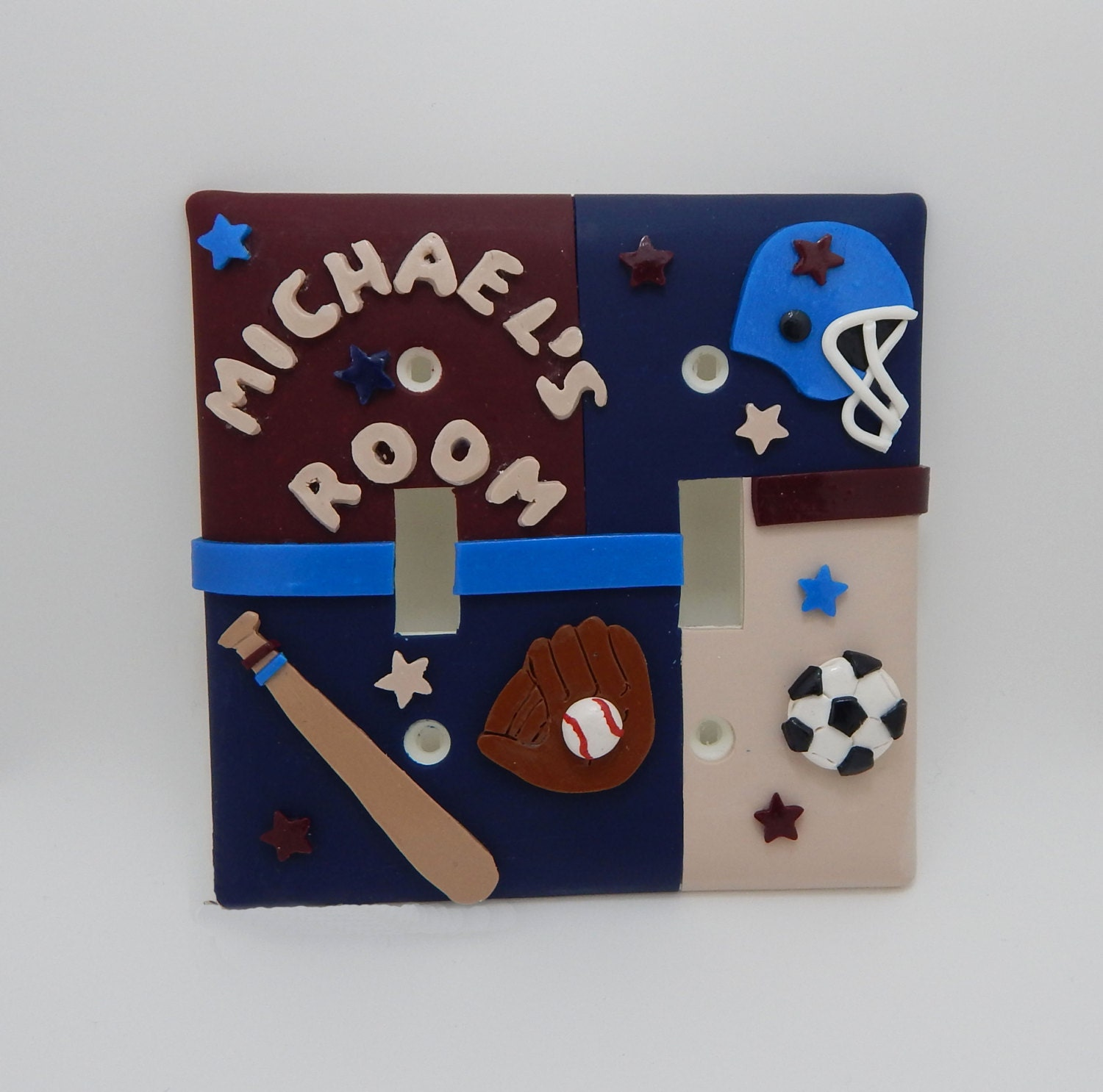 Sports Themed Double Light Switch Cover Customized Sports