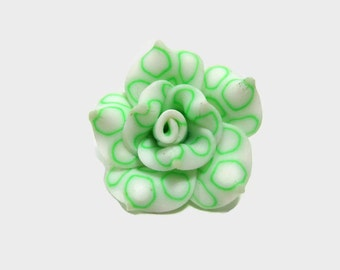 25mm Polymer Clay Rose Beads Set of Three (R04)
