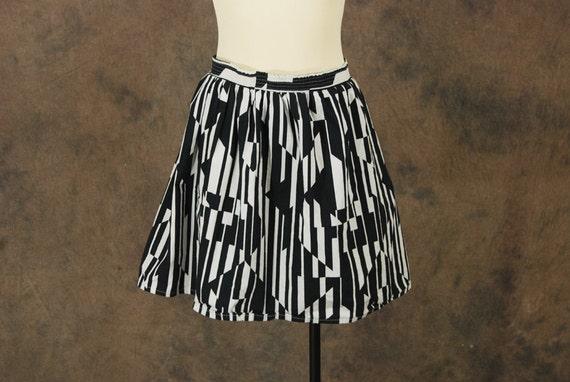 vintage 80s Mini Skirt 1980s Avant Garde Black and by ...