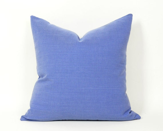 Solid Blue Pillows Periwinkle Blue Throw Pillow Violet Blue