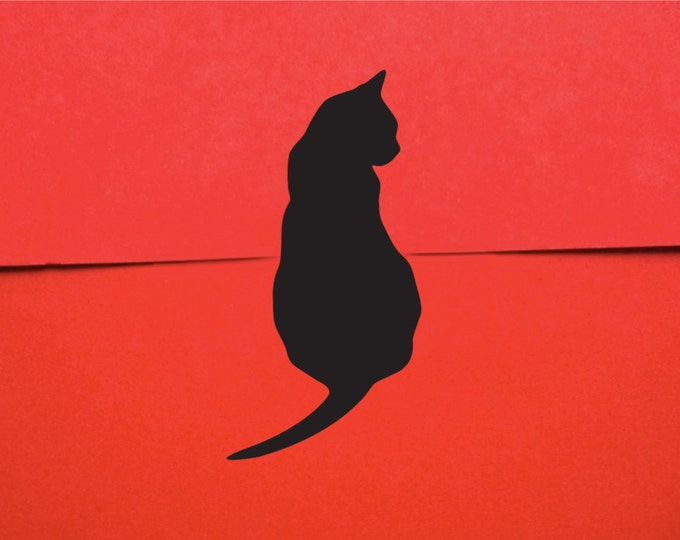 Black Cat Mini Stickers - Gift Wrap Cat Stickers (50)