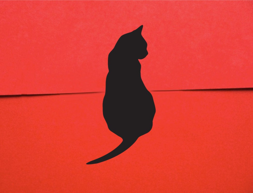 Black Cat Mini Stickers - Gift Wrap Cat Stickers (50)