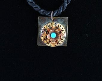 Turquoise Pendant. Listing 236246970
