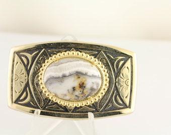 Silver Onyx Belt Buckle. Listing 236834339
